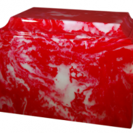 B-Tuscany Cultured Marble Adult Urn Cherry Red
