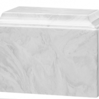 B-Tuscany Cultured Marble Adult Urn Carrera White