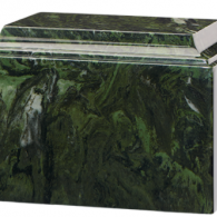B-Tuscany Cultured Marble Adult Urn Green Ascota