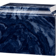 B-Tuscany Cultured Marble Adult Urn Midnight Blue