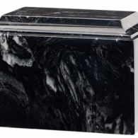 B-Tuscany Cultured Marble Adult Urn Black Marlin