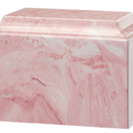 B-Tuscany Cultured Marble Adult Urn Pink