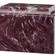 B-Tuscany Cultured Marble Adult Urn Merlot