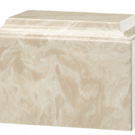 B-Tuscany Cultured Marble Adult Urn Cream Mocha
